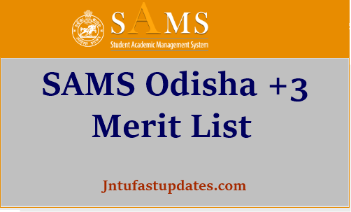 odisha +3 merit list