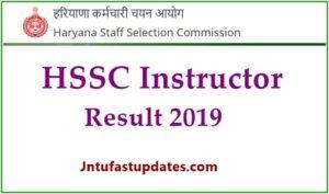 HSSC Instructor Result 2019