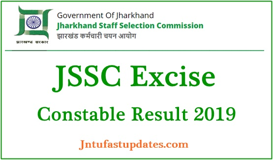 JSSC Excise Constable Result 2019