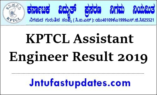 KPTCL Assistant Engineer Result 2019