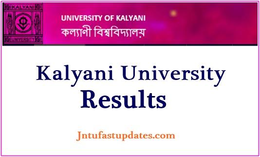 Kalyani University Result 2019
