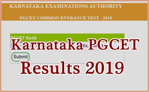 Karnataka PGCET Results 2019