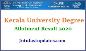 Kerala University Allotment 2020