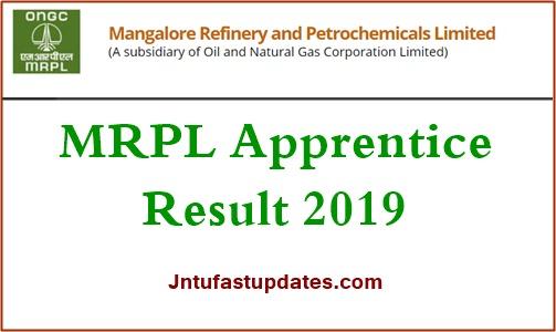 MRPL Apprentice Result 2019