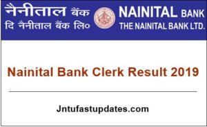 Nainital Bank Clerk Result 2019