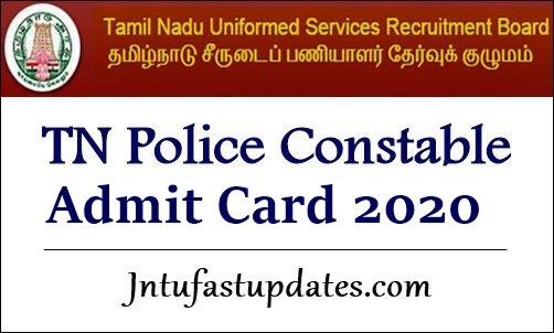 tn police constable hall ticket 2020