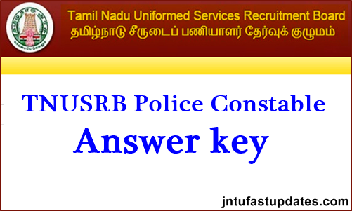 TNUSRB Police Constable Answer Key 2019