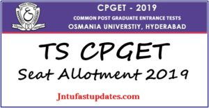 TS CPGET Seat Allotment Result 2019