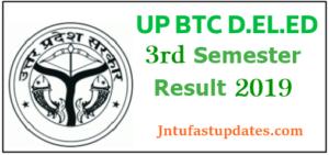 UP D.El.Ed 3rd Semester Result 2019