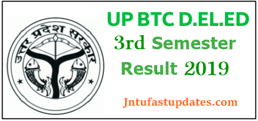 UP D El Ed 3rd Semester Results 2019 (Released) - UP BTC