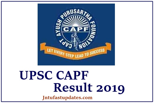 UPSC CAPF Result 2019