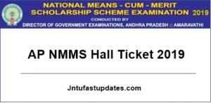 ap nmms hall ticket 2019