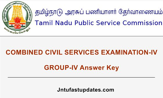 TNPSC Group 4 Answer Key 2019 PDF (Released) - Download CCSE