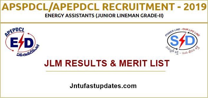 APSPDCL JLM Results Merit List 2019