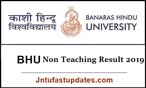 BHU Non Teaching Result 2019