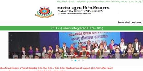 Bihar CET Int B.Ed Result 2019