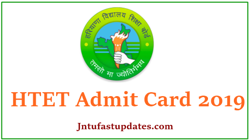 HTET Admit Card 2019 Download