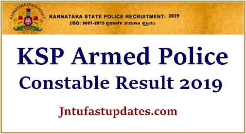KSP Armed Police Constable Result 2019