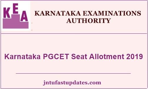 Karnataka PGCET Seat Allotment 2019
