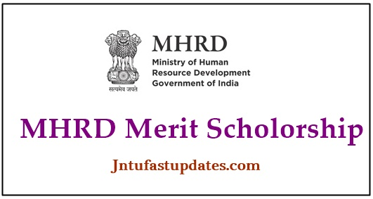 MHRD Merit Scholarship 2019-20 Apply Online