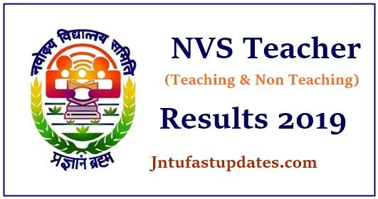 NVS Teacher Result 2019