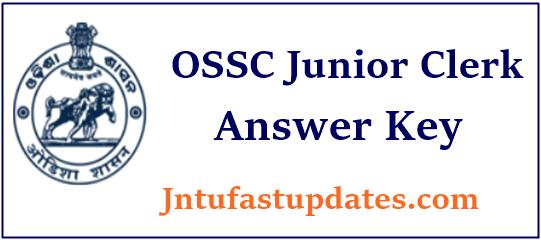 OSSC Junior Clerk Answer Key 2019