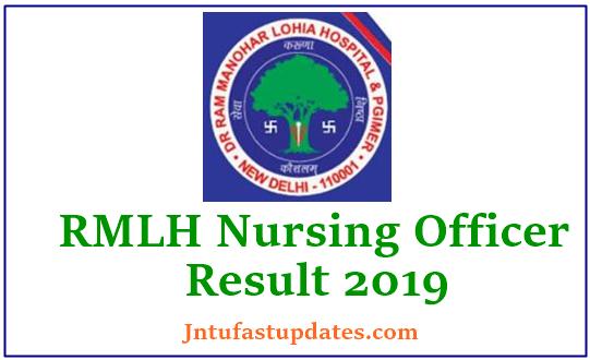 RML Hospital Nursing Officer Result 2019