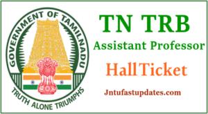 TN TRB Assistant Professor Hall Ticket 2019