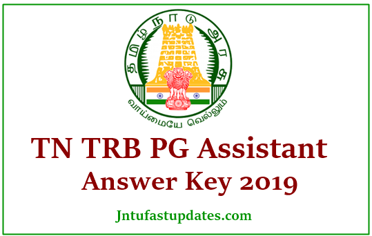 TN TRB PG Assistant Answer Key 2019