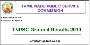 TNPSC Group 4 Results 2019