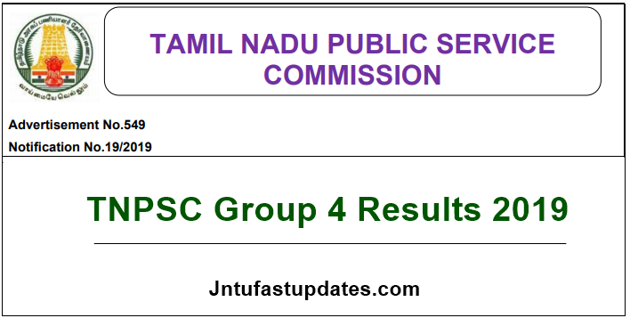 TNPSC Group 4 Results 2019