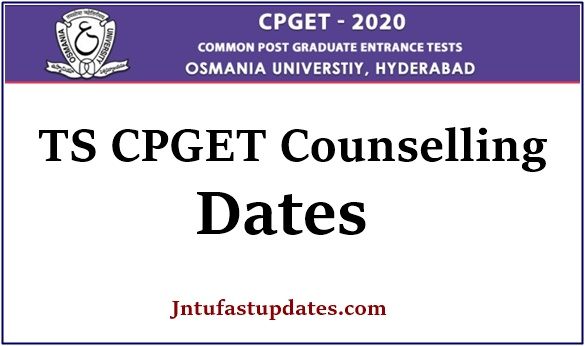 TS CPGET Counselling Dates 2020