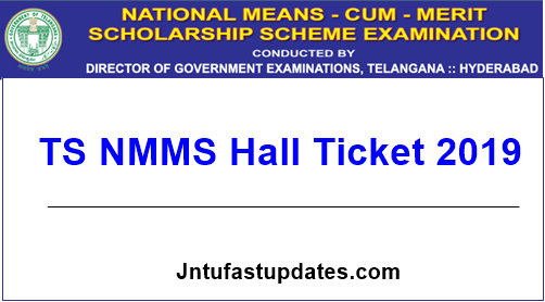 TS NMMS Hall Ticket 2019