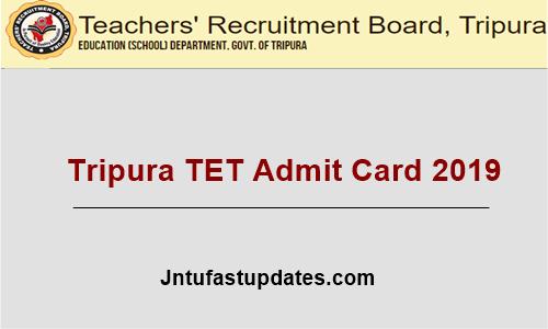 Tripura TET Admit Card 2019