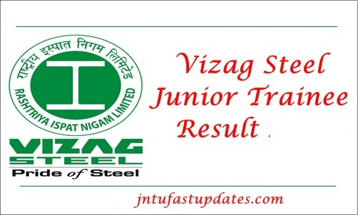 Vizag Steel Junior Trainee Results 2019