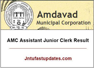 AMC Assistant Junior Clerk Result 2019