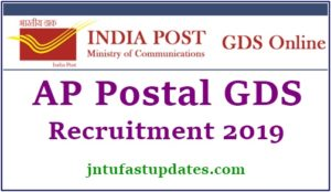 AP Postal Circle GDS Notification 2019 Apply Online