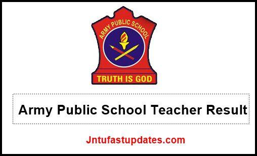 Army Public School Teacher Result 2020