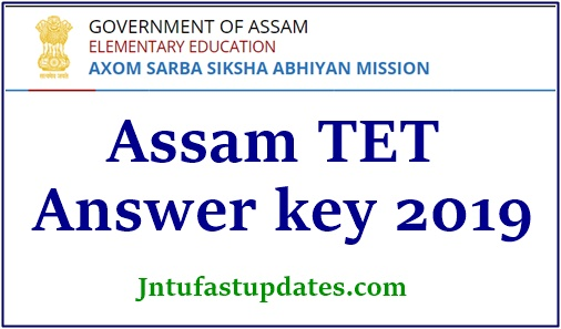 Assam TET Answer Key 2019