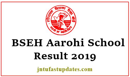 BSEH Aarohi School Result 2019