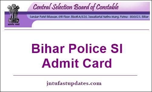 Bihar-Police-SI-Admit-Card-2019