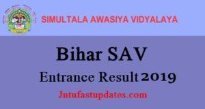 Bihar Simultala Awasiya Vidyalaya Results 2019