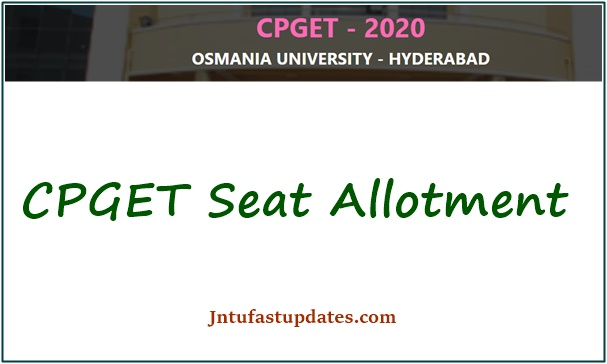 CPGET Seat Allotment 2021