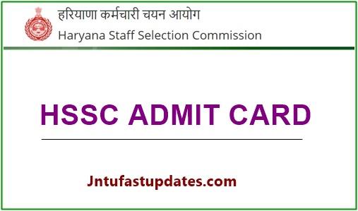 HSSC Staff Nurse Admit Card 2020