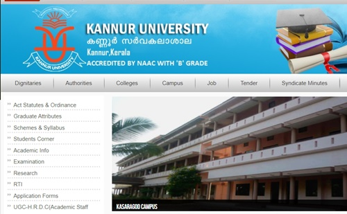 Kannur University Time Table 2019