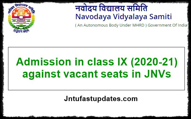 Navodaya Vidyalaya Admission 2020-21