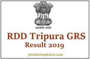 RDD Tripura GRS Result 2019