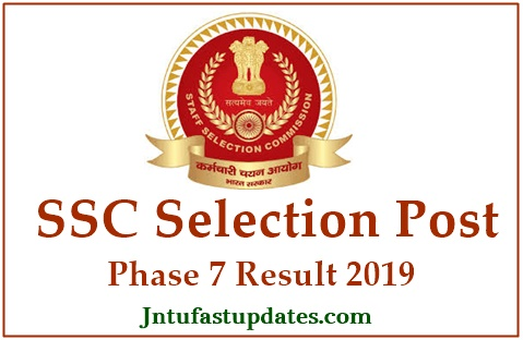 SSC Selection Post Phase 7 Result 2019