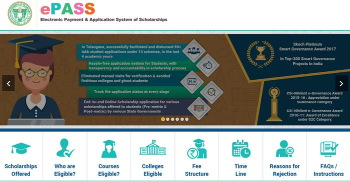 TS EPASS Fresh & Renew Application 2019-20