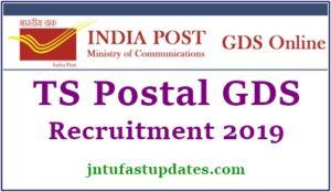 Telangana Postal Circle GDS Apply Online 2019
